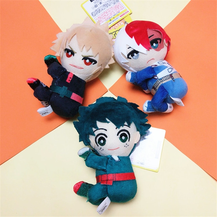 Аниме Boku no My Hero Academy Midoriya Izuku Todoroki Shoto Косплей милая плюшевая кукла Фигурка брелок сумки Подвеска игрушка подарок