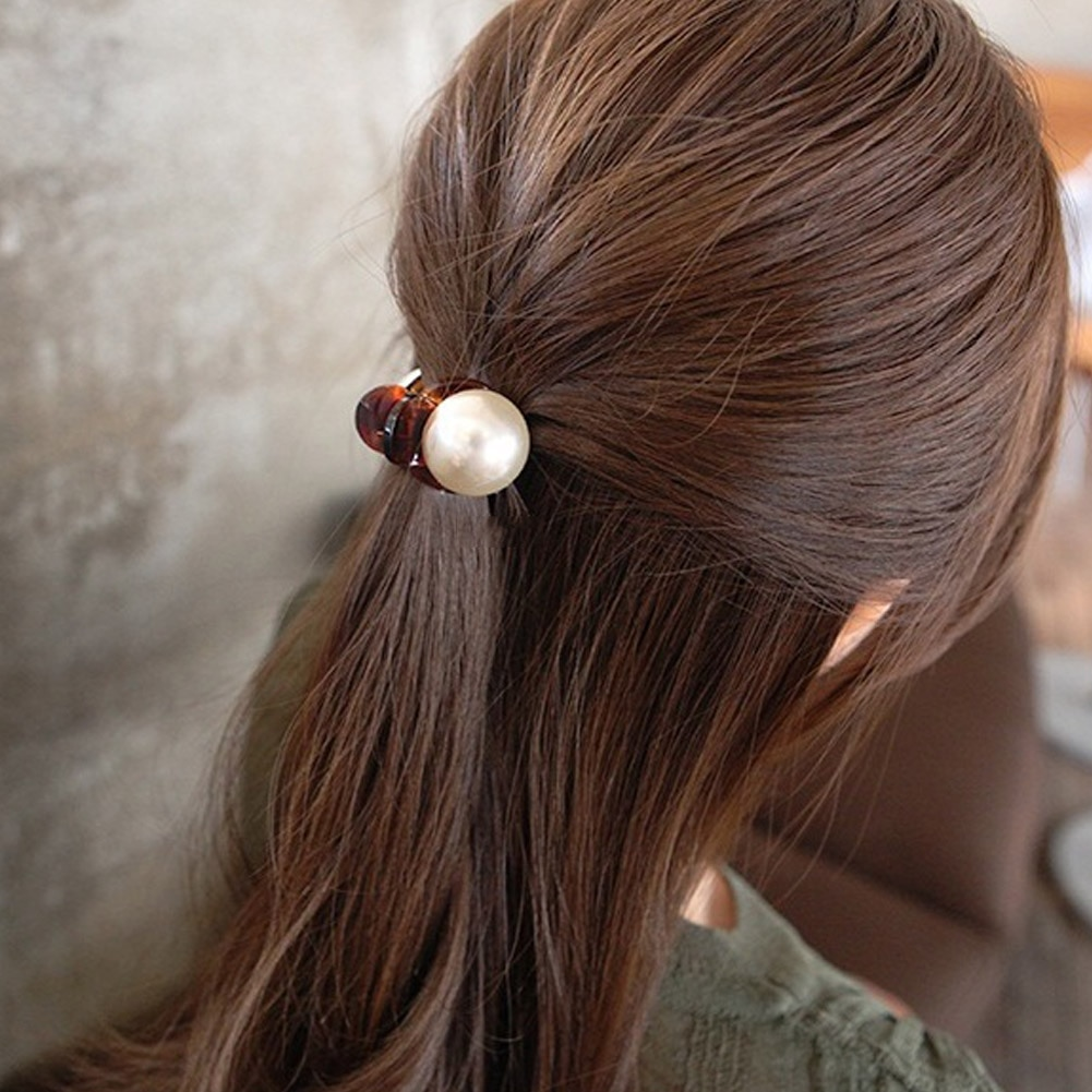 Korėjietiški mieli mini apvalūs perlų plaukų smeigtukai moterims - Drabužių priedai - Nuotrauka 5