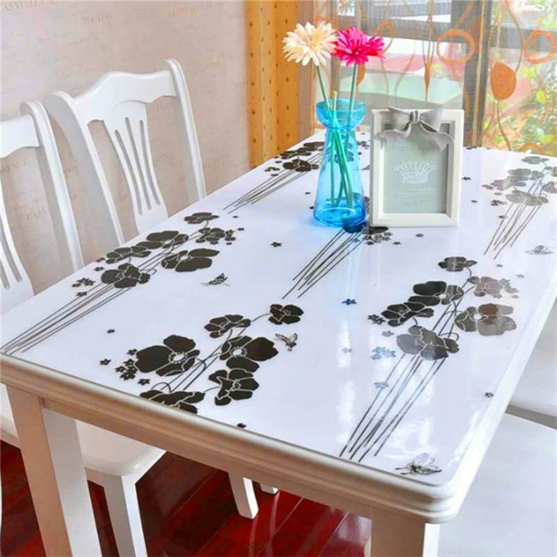 Cubierta protectora de muebles multiusos versión de cristal mate de mesa de centro de vidrio suave de PVC de tela de mesa impermeable LOVRTRAVEL