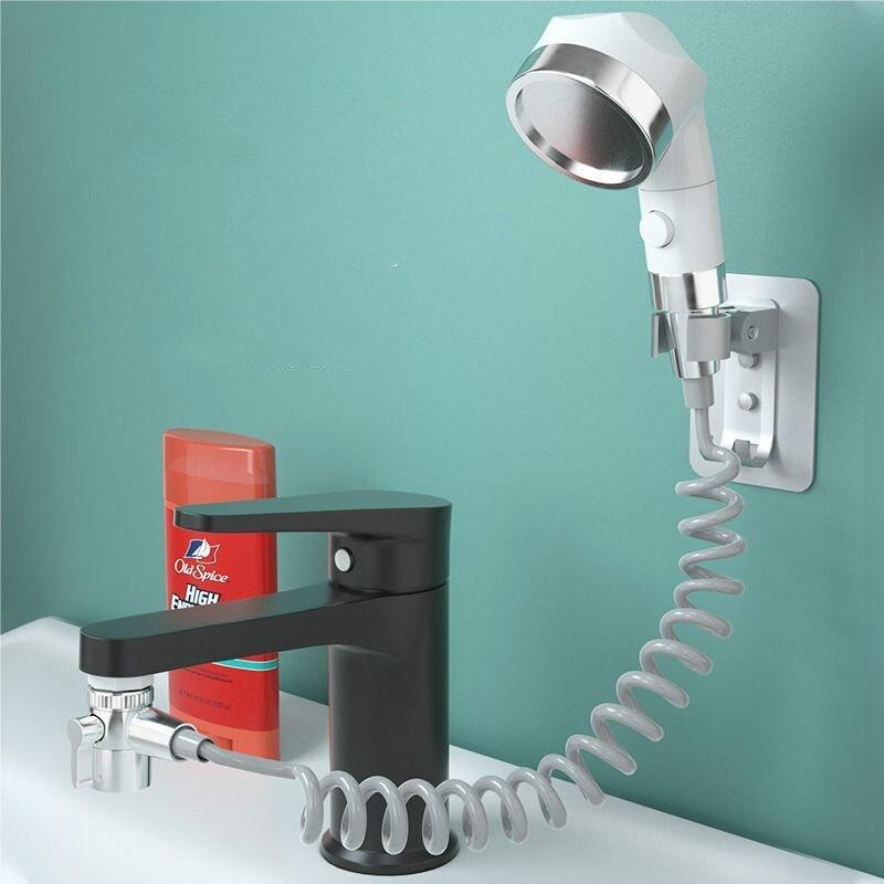 Baño externo Mini Shampoo artefacto conjunto de cabezal de ducha grifo lavabo hogar Filtro de limpieza cabezal de ducha retráctil