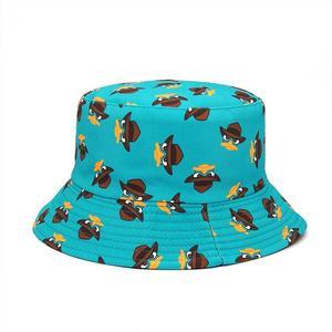 2021 Cotton four seasons Cartoon Pattern Print Bucket Hat Fisherman Hat Outdoor Travel Sun Cap for Men and Women 398
