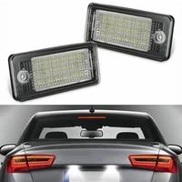 dropship 2 pcs license plate light 18 led number plate holder lamp no error for audi a3 a4 a5 a6 a8 b6 b7 q7