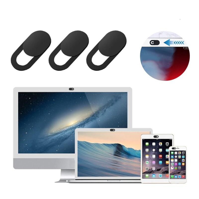 Lens Webcam, cubierta de obturador, imán deslizante de plástico para iPhone, Web, portátil, PC, iPad, tableta, cámara, etiqueta engomada fina de la privacidad del teléfono móvil