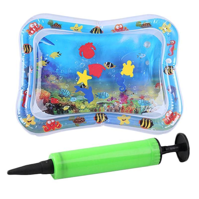 Verano bebé inflable palmaditas Pad infantil agua para bebé tapete de hielo cojín juguete con inflador