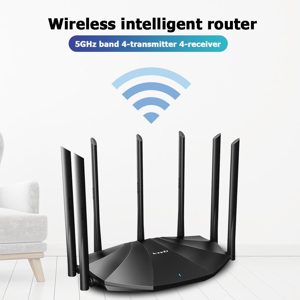 AC23 جيجابت ثنائي النطاق موزع إنترنت واي فاي مضخم لاسلكي 2100Mbps 2.4GHz 5GHz مكرر أوسع شبكة التغطية موسع
