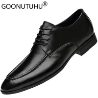 2021 style fashion mens shoes dress genuine leather classic lace up derby shoe man party office formal shoes for men size 36 47