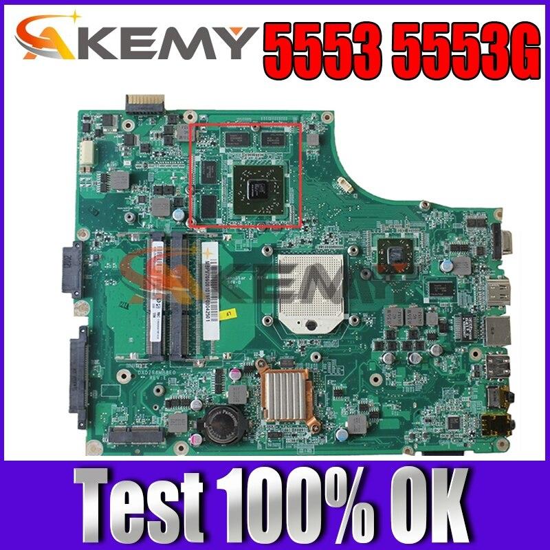 DA0ZR8MB8E0 MBPV606001 MB.PV606.001 لشركة أيسر أسباير 5553 5553G اللوحة الأم للكمبيوتر المحمول 100% اختبارها بالكامل