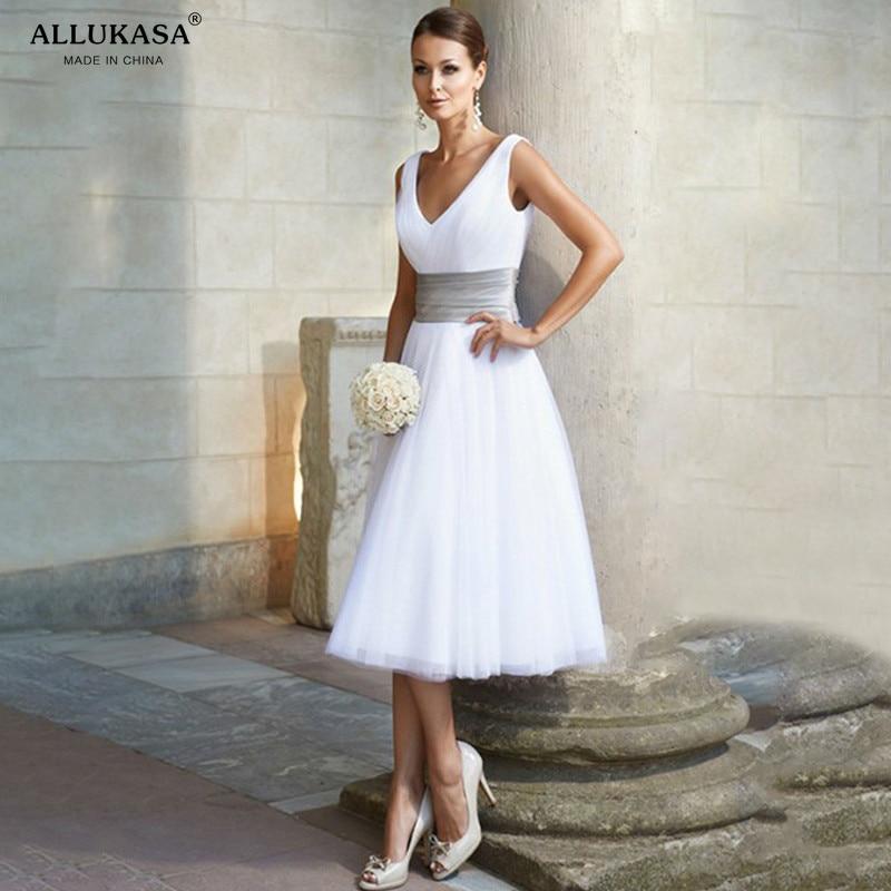 Allukasa Elegant Sexy V Neck White Summer Dress Women Formal Wedding Long Party Casual Plus Slim Chiffon Ball Gown Pink  White