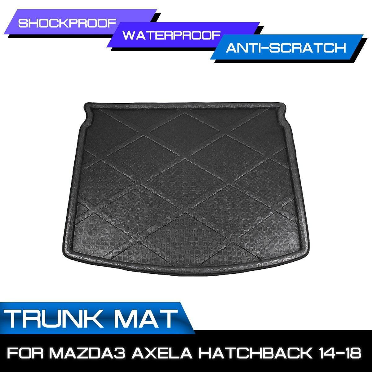 سيارة الخلفي الجذع مكافحة الطين غطاء سجادة أرضية ل Mazda3 Axela Hatchback 2014 2015 2016 2017 2018