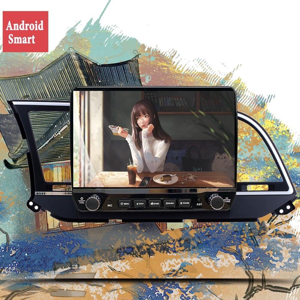 Deckless السيارات أندرويد 10.0 راديو السيارة لشركة هيونداي إلنترا 2017 2018 2016 لتحديد المواقع والملاحة DSP مشغل وسائط متعددة CarPlay وحدة