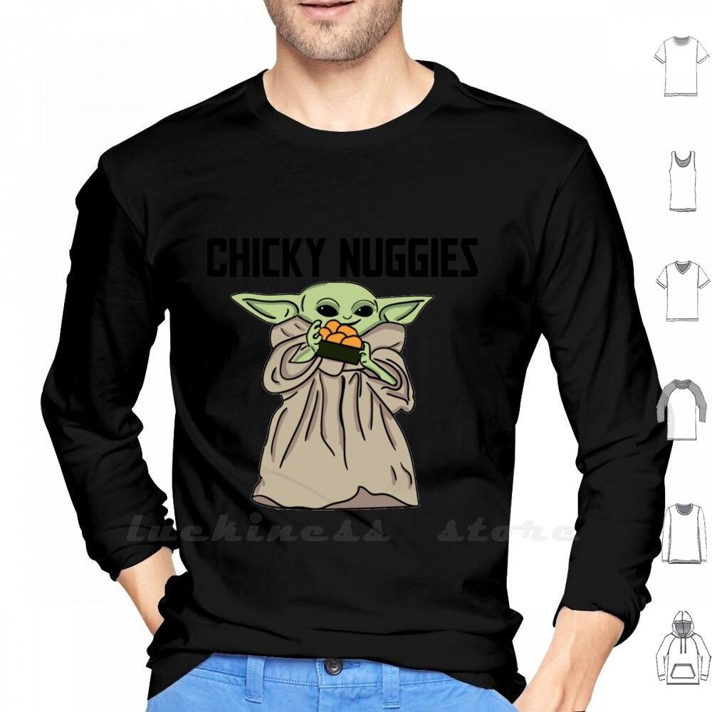 Chicky, Nila crujientes largo manga T camisa Chicky, Nila crujientes Nugget de pollo Chickie, Nila crujientes Chicky Nuggys
