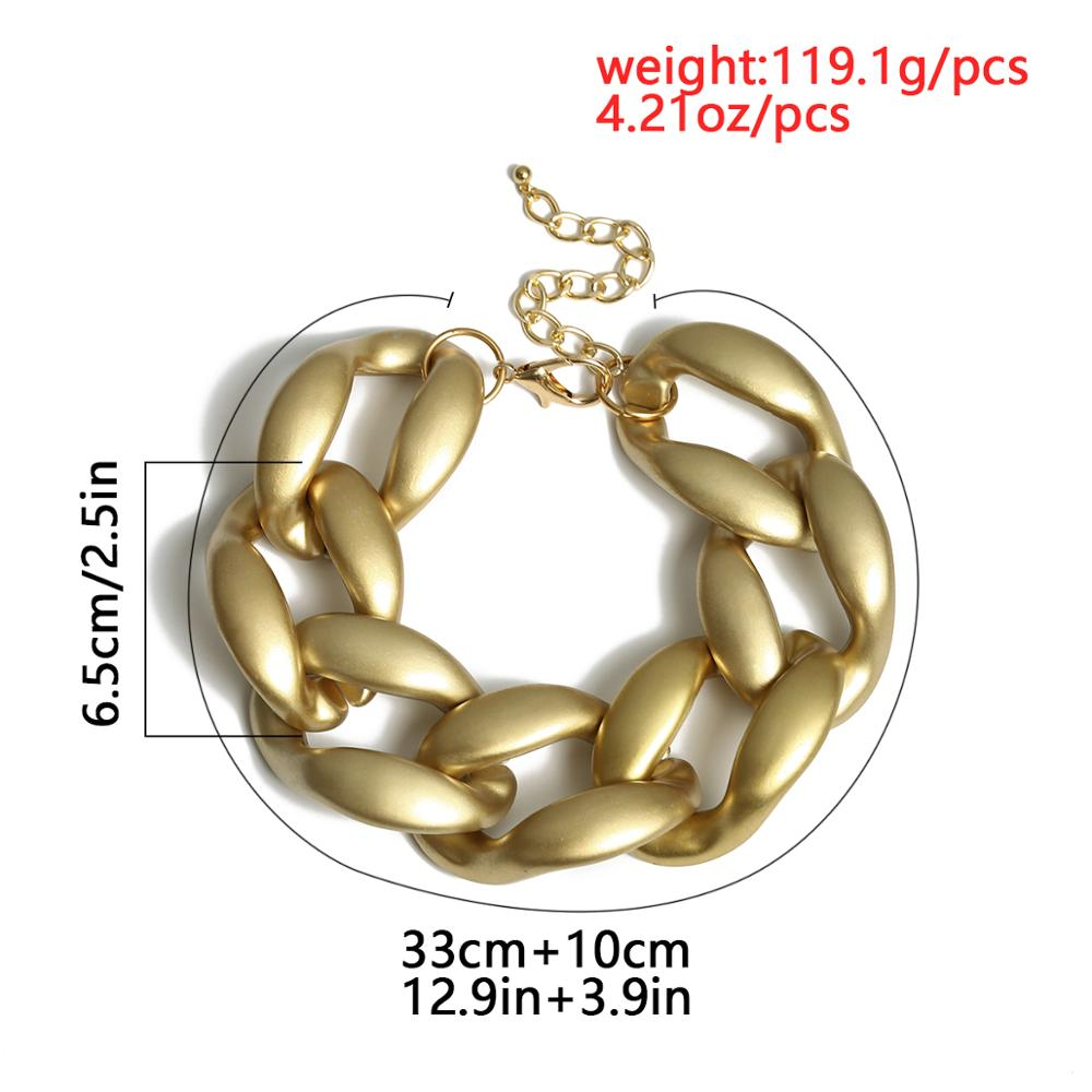 Купить с кэшбэком Exaggerated Rock Chunky Chain Necklace Men Steampunk Female Accessories Cuban Twist Big Thick Necklace Women Prom Jewelry