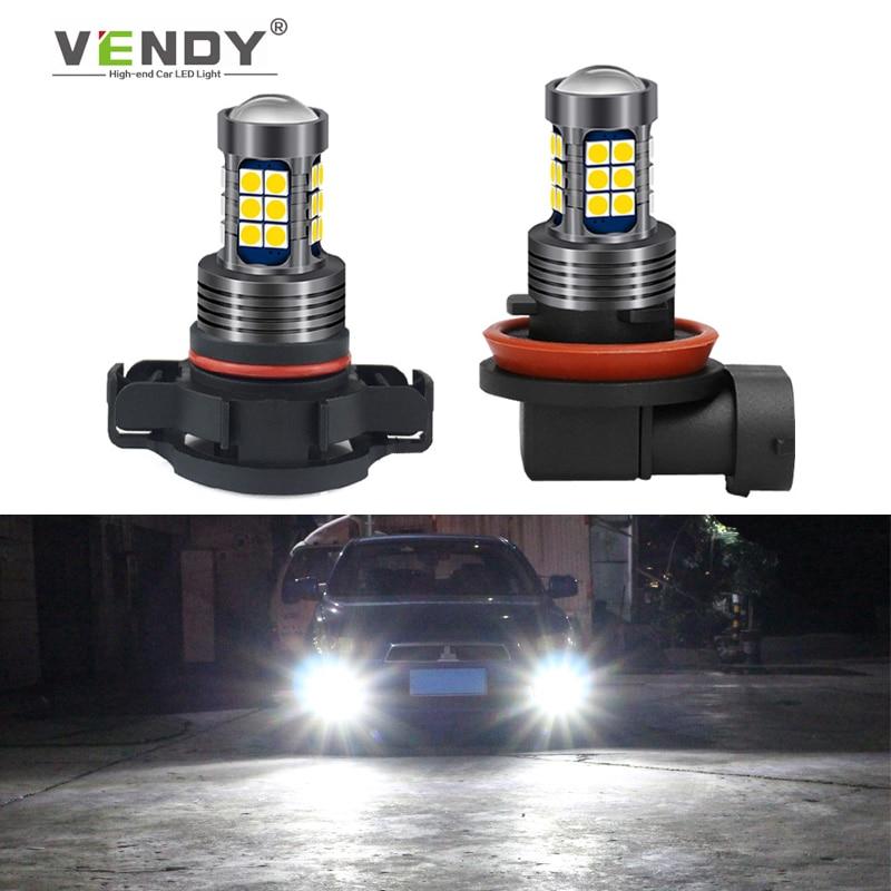 1x luz antiniebla LED de coche lámpara de bombilla H8 H11 H16 HB4 HB3 H10 PSX24W Auto DRL para en jeep wrangler jk brújula cherokee xj Patriota