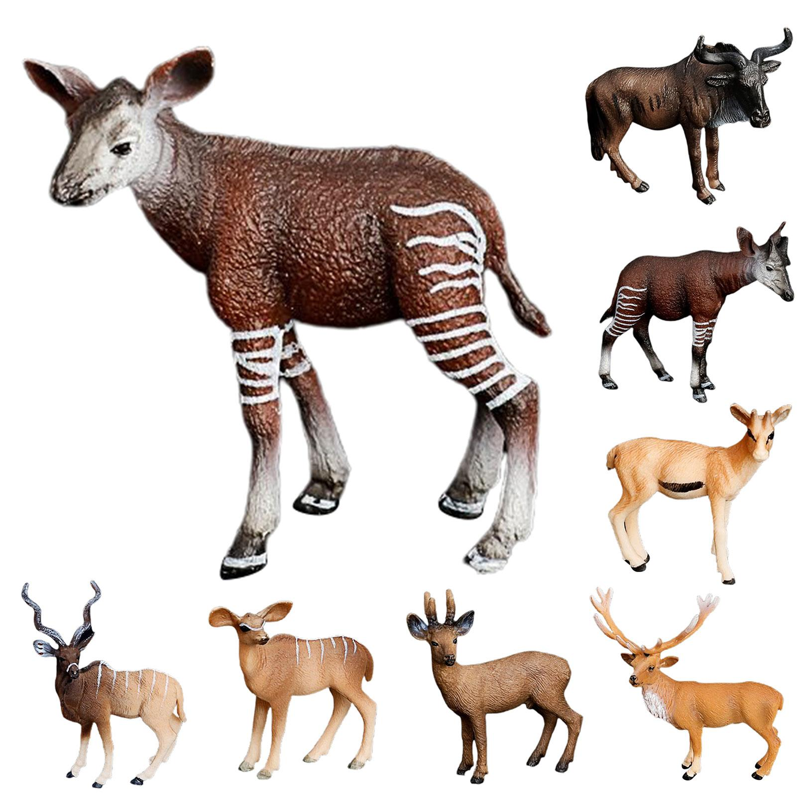 Simulation Wild Animal Deer Model Antelope Table Decor Kids Toy Collection Gift