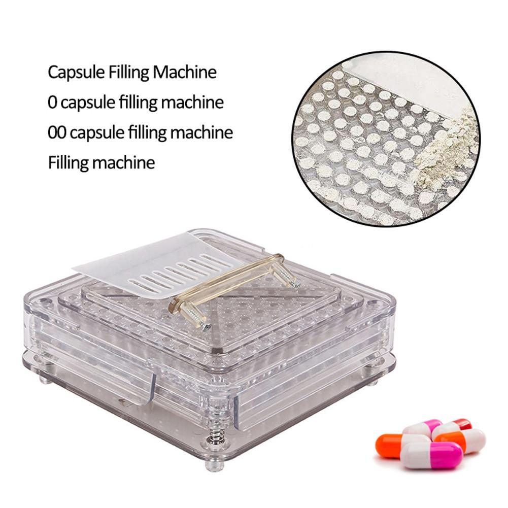 0#/00#-100 holes Acrylic capsule filling board/capsule filling device/Manual Capsule filling machine, manual encapsulator