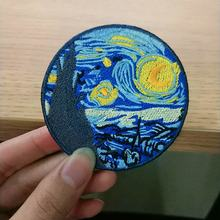 Van Gogh-patchs de fer pour vêtements   Patchs de broderie Mona Lisa pour vêtements, accessoires de décoration pour vêtements en tissu à coudre