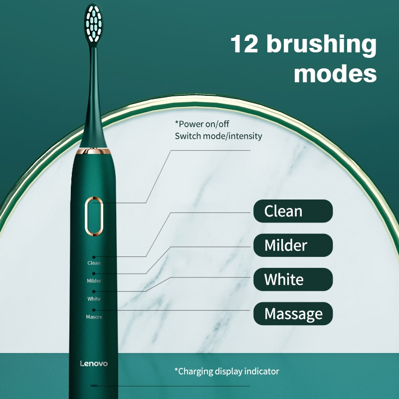 Lenovo Electric Toothbrush USB Charging IPX7 45000 Minute Waterproof Removing Dental Plaque Adult Protect Teeth Sonic toothbrush enlarge
