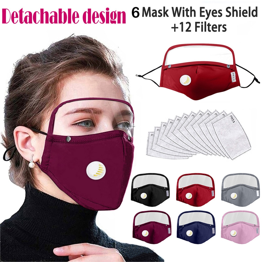 6 protector de pc máscaras para la cara desmontable máscaras plegable de tela de algodón de máscaras para adultos al aire libre para el cuidado de la piel Helath