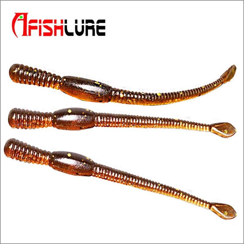 Afishlure Swimbaits Soft Plastic Lures for Fishing Lure Worm  80mm 1.1g 12pcs/bag Earthworm Bait