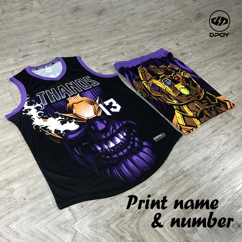 DPOY brand design MARVEL basketball jersey suit for team Sports Uniforms Training Jersey Customized kid women men