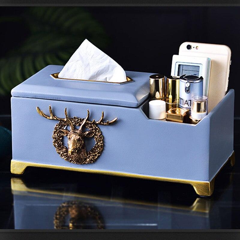 حافظة ورق متعددة الوظائف لغرفة المعيشة ، حامل ورق من الراتنج والمعدن للحمام