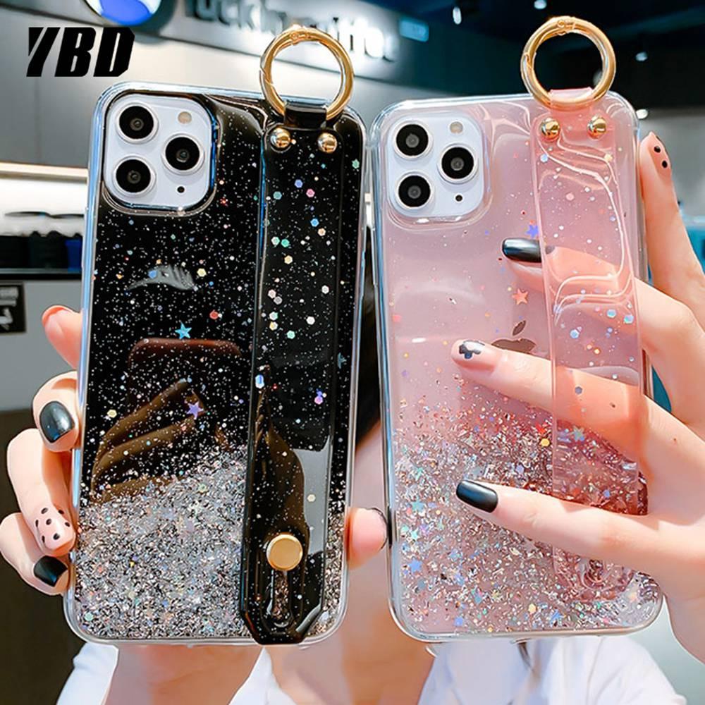 YBD Soft Bling Case for Samsung A51 A71 A81 A91 A50 A70 A10 A20 A30 A50s A30s A70s S10 lite S20 plus ultra Wristband Coque Case