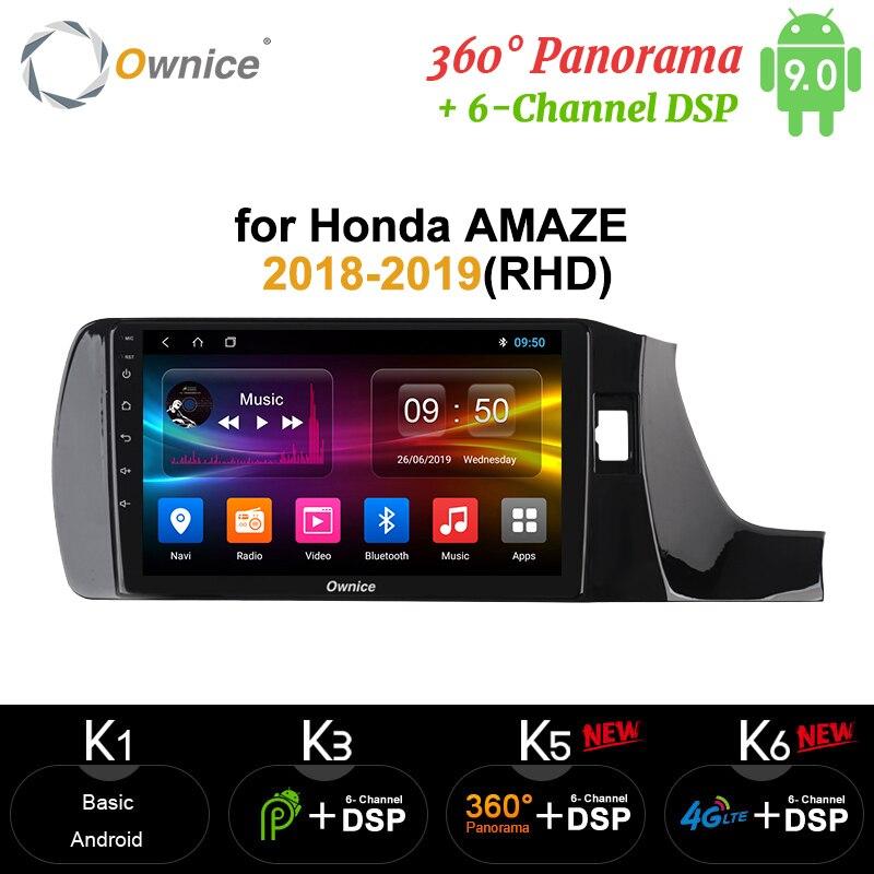 Ownice Octa Core 4G 64G Android 10 360 Panorama DSP SPDIF coche DVD Radio GPS Navi reproductor carplay para Honda AMAZE 2018-2019(RHD)