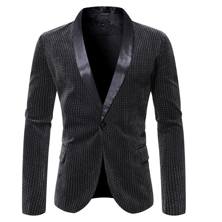 Desejo outono e inverno novo estilo occident moda masculina casual terno de botão único negócio casual juventude pino pi terno casaco