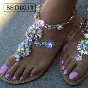 2021 new Sandals Women Flip Flop Thong Flat Sandals Ladies Summer T-strap Sandal Shoes