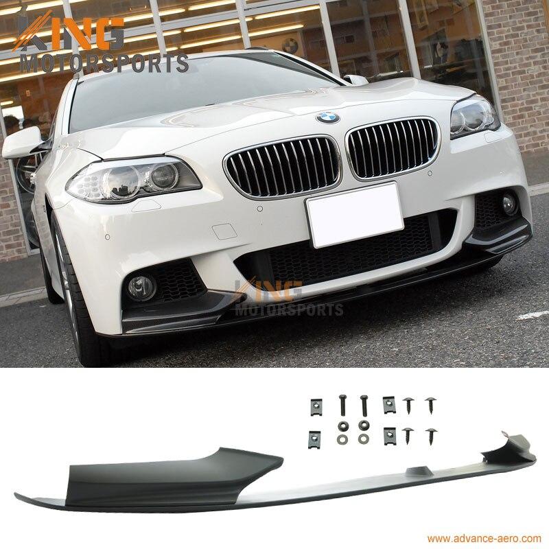 Ajuste para 11 12 13 14 15 F10 BMW 5 Series rendimiento estilo Perfil de alerón delantero sin pintar negro PP