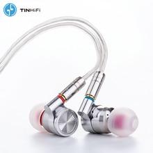 TIN HIFI T4 10mm CNT Carbon Nanotube Dynamic Driver In Ear Earphone Monitor IEM Bass DJ Metal Headset MMCX Cable TINHIFI T3 T2