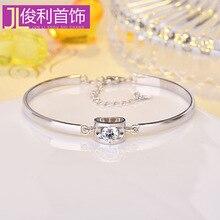 LB2036   Handmade jewelry 925 Sterling Silver Bracelet Korean version sweet love bracelet