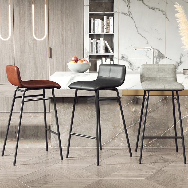 Silla de Bar de hierro nórdico 256, taburete moderno Simple, taburete alto ligero de lujo, silla de barra de café, silla alta