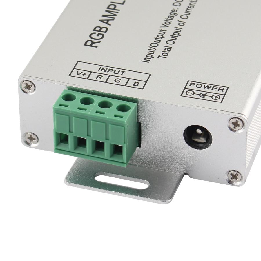 A tensão 12v-24v do amplificador do controlador do rgb do diodo emissor de luz rgbw rgb maxload power 144 luzes aplicáveis 3528 5050 tira