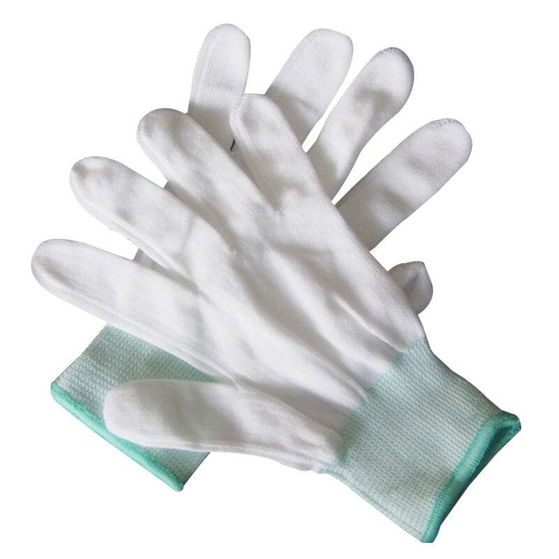 13 guantes de nailon de aguja para caza al aire libre guantes de nailon elásticos resistentes al desgaste antiestáticos electrónicos para embalaje de alimentos