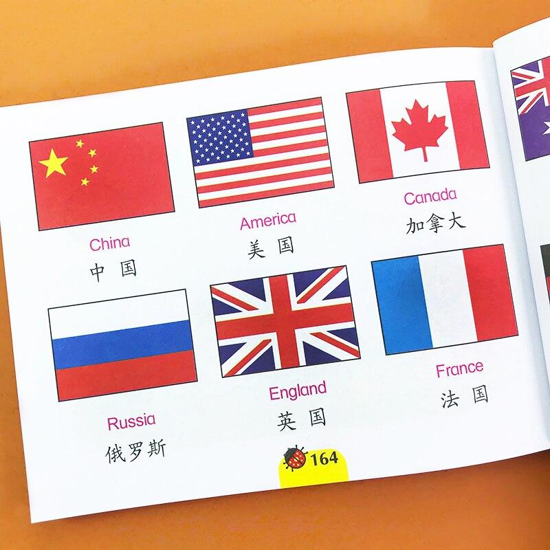 Libro de imágenes en inglés ABC con diseño de bandera/fruta/Animal para niños de 3 a 6 años, juegos Montessori, juguetes educativos de aprendizaje para niños y bebés
