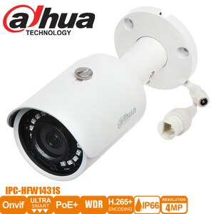 Dahua original IR POE IP67  camera IPC-HFW1431S 4MP Mini Bullet IP Camera Night Vision 30MDH-IPC-HFW1431S-S4