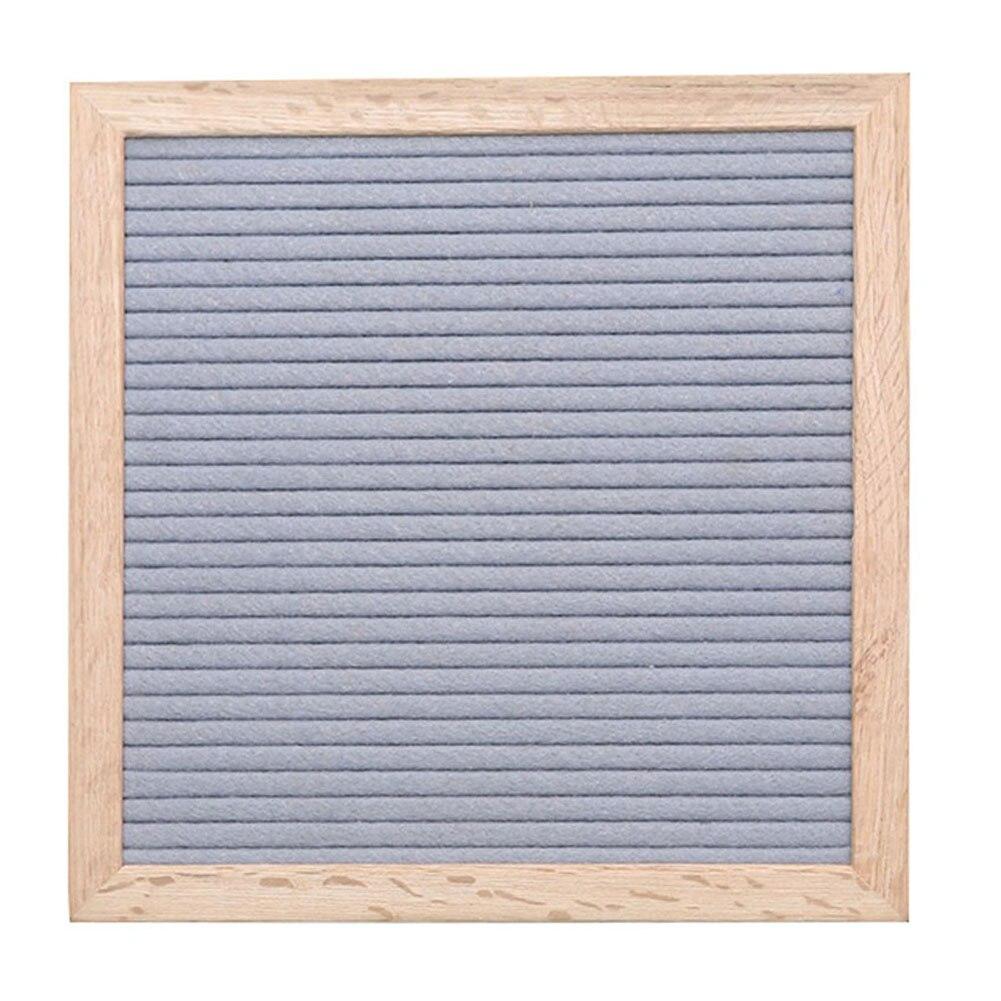 10x10 pulgadas tablón de letras de fieltro cocina caracteres cambiables Pantalla de foto Flexible Dejar mensaje casa Oficina marco de madera