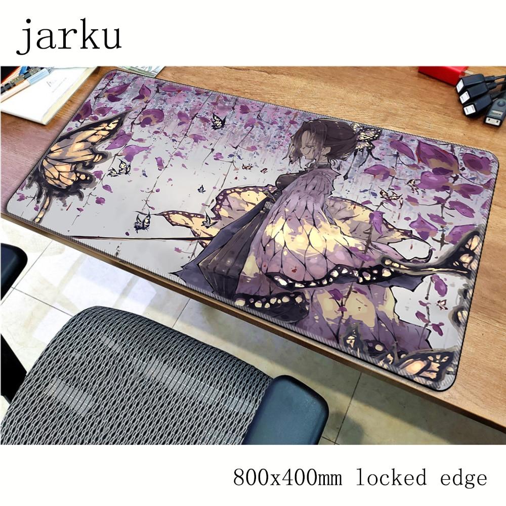 Alfombrilla de ratón Kimetsu no Yaiba bonita gamer 800x400x2mm alfombrilla de ratón notbook alfombrilla de ratón para juegos alfombrilla de patrón masivo alfombrilla de ratón para escritorio