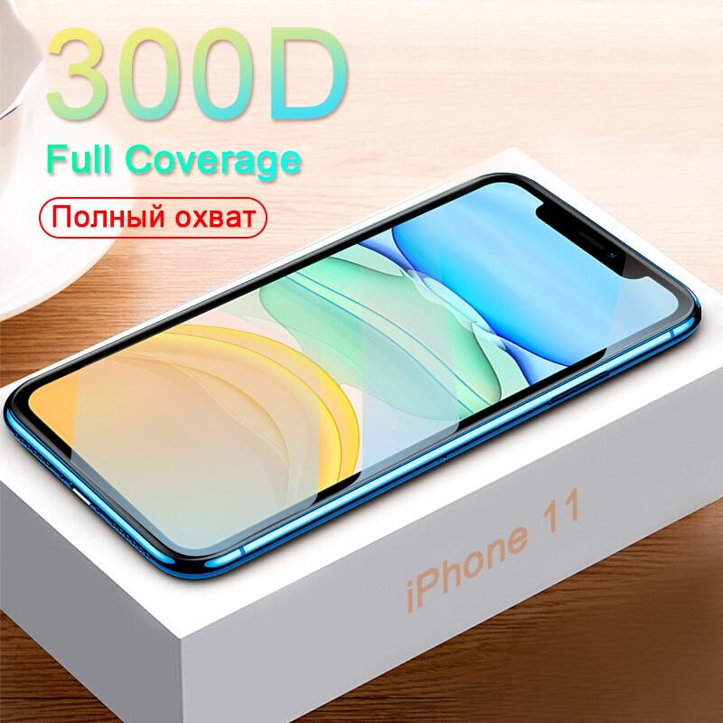300D защитное стекло на iPhone 11 Pro X XS MAX 11 стекло полное покрытие iPhone 11 Pro Max XR защита экрана закаленное стекло