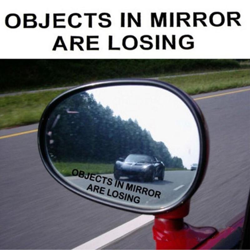 AliExpress - 2Pcs/Set Car Rear View Mirror Warning Sticker OBJECTS IN MIRROR ARE LOSING Pattern Car Reflective Waterproof Stickers