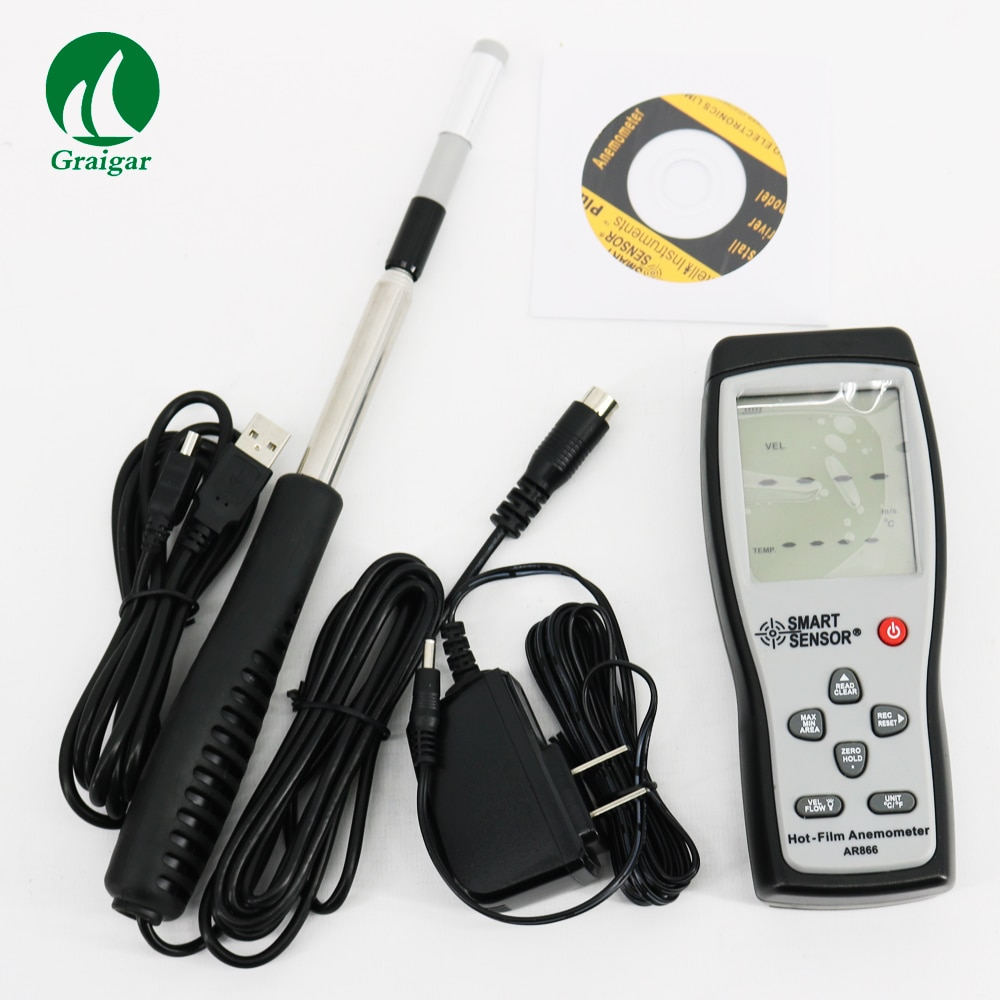 Smart Sensor AR866 Digital Thermal Anemometer Wind Speed Tester Smart Sensor  - buy with discount