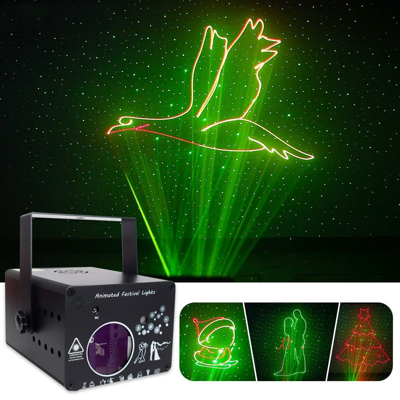 ORY 3D Stage Lighting Effect Full Color Animation Laser Projection Light For Christmas Bar KTV DJ Party