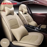 cartailor car seat cover leather cowhide for toyota venza seat covers for car seats cushion support accessories front rear set