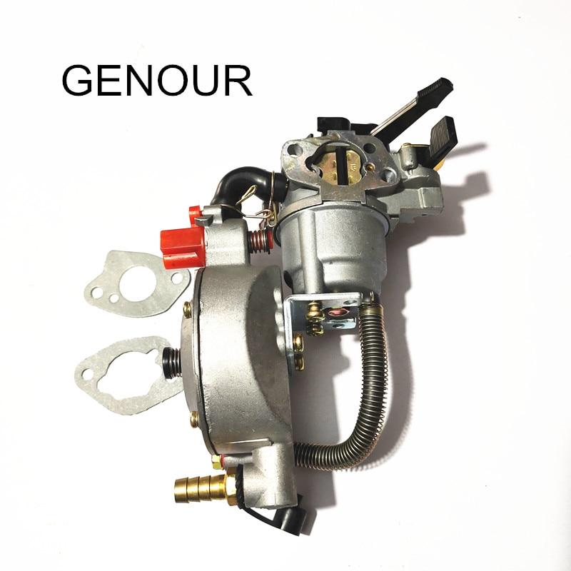 تصميم جديد JIWANNIAN LPG و CNG المكربن ثلاثة طريقة تحويل عدة ل GX160 GX200 محرك البنزين و LIQUEFIELD ، المزدوج الوقود المكربن