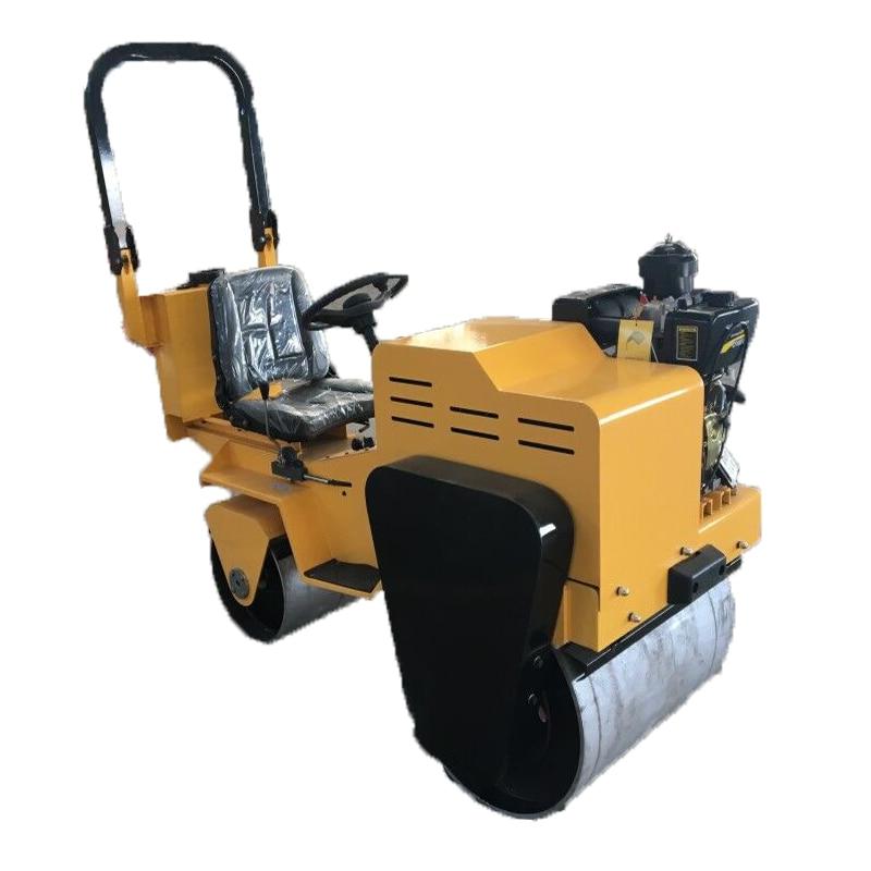 Single/double Drum New Vibration Small Mini Road Rollers Machine FVR-600S 5.5HP Walking Single Wheel Roller Honda GX160