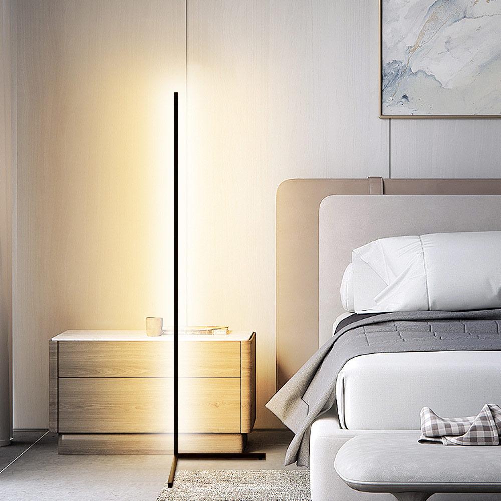 Led Living Room Lamp Nordic Multi Tone Light Floor Lamp Intelligent Remote Control RGB Corner Lamp Suitable for Bedroom