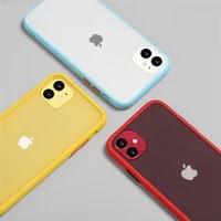 dark mint simple matte bumper phone case for iphone 12 pro x xs max 12mini shockproof soft tpu silicone clear case cover