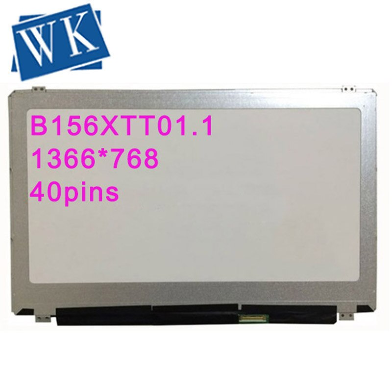 B156XTT01.1 fit B156XTT01.3 con pantalla LED Digitalizador de pantalla táctil para ordenador portátil de 40 pines para ACER o DELL
