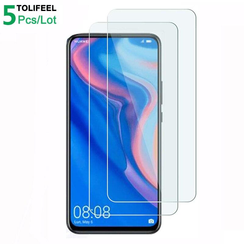 5 piezas de vidrio templado para Huawei P Smart Z Protector de pantalla 9H 2.5D teléfono protectora de vidrio para Huawei P Smart Z de vidrio